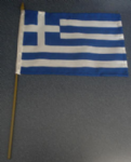 Greece Country Hand Flag - Medium (stitched).
